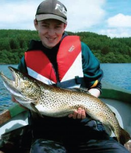 Bobby Geraghty with a Corrib Brown Trout, 2008
