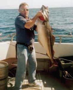 IRISH RECORD COALFISH: The Irish Record Coalfish of 15.1kg for Roger Barham (UK) taken off Castletownshend, 30th of August, 2003