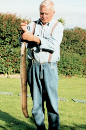The River Lee produced this fine 1.7 kg eel for Dirk Mueller in August, 2002.