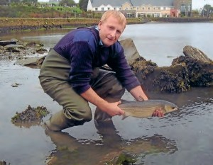 2012 was another good year for Thick Lipped Mullet specimens. Nicky McEvoy releases his 2.45 kg specimen back into the water at Rosscarbery