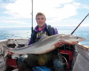 Andrew Boyce with the sole specimen Tope of 2011